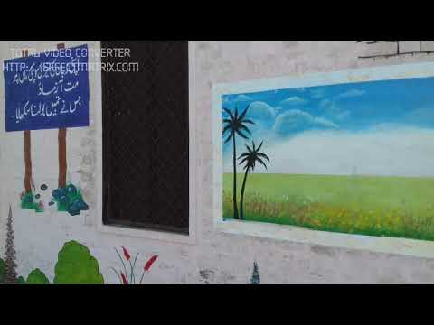 wall painting for school_school wall painting_scenery painting by Tabassum ARTS