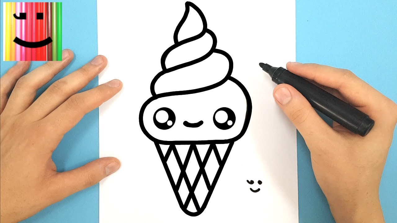 Comment dessiner une glace italienne kawaii youtube - Facile dessin ...
