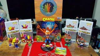 "Unboxing: Crash Bandicoot  Funko Pop Vinyl Figures and First 4 Figures  9"" PVC Painted Statue"