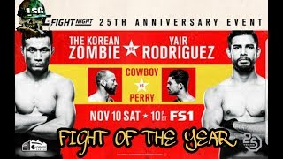 (FIGHT OF THE YEAR) UFC DENVER CHAN SUNG JUNG vs YAIR RODRIGUEZ / DONALD CERRONE vs MIKE PERRY