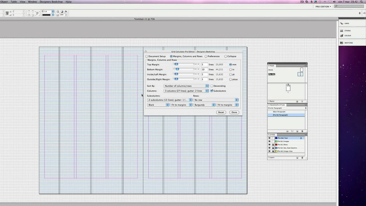 Grid Plugin Indesign - Grid Calculator Pro Edition - Designers Bookshop