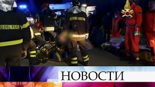 В Италии из-за давки в ночном клубе погибли шесть человек.