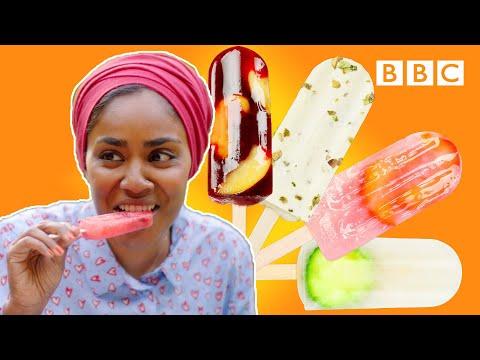 A surprise twist on the classic ice lolly! | Nadiya's Summer Feasts - BBC