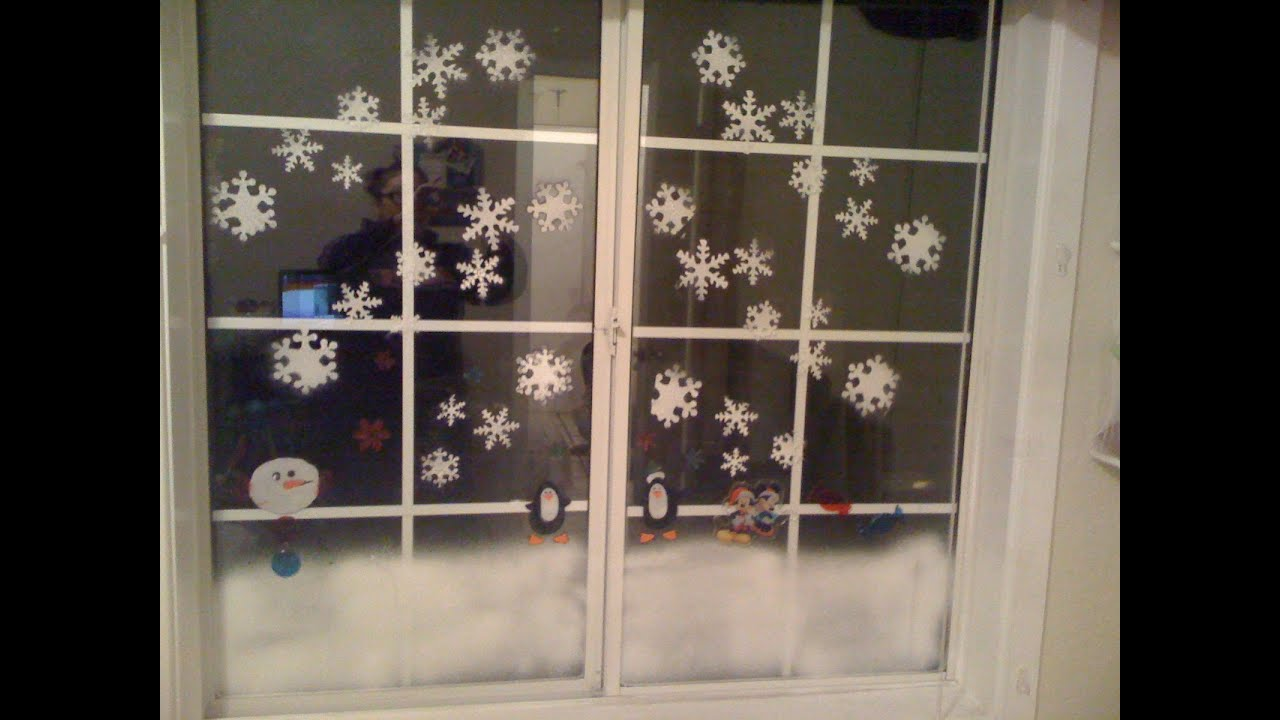Window christmas decoration tutorial youtube How to decorate windows