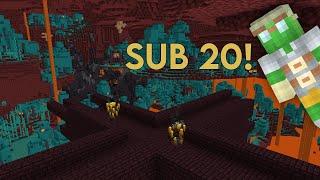 Minecraft 1.16 RSG Speedrun in 18:13 (PB)