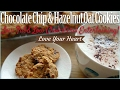 Chewy Chocolate Chip Hazelnut Oat Cookies 🍪Easy Heart Healthy Low Fat Recipe | Low Cholesterol Diet