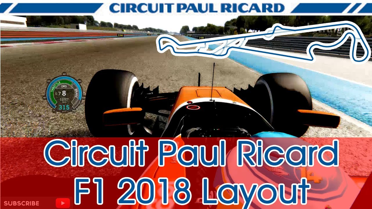 circuit paul ricard f1 2018 layout fernando alonso mclaren honda assetto corsa youtube. Black Bedroom Furniture Sets. Home Design Ideas