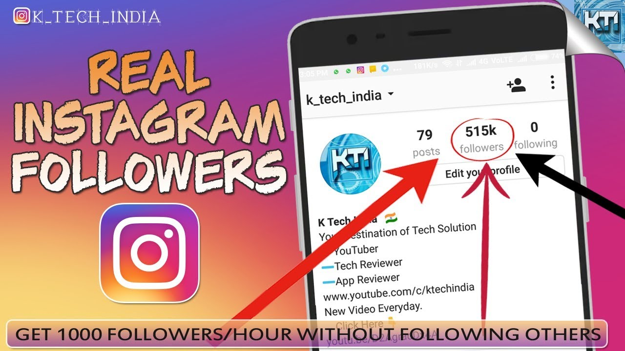 How to Get INSTAGRAM followers Without following others | Get Followers per  Hour