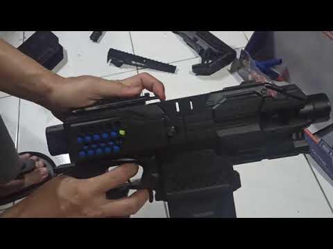 Nerf Stryfe Super Ganteng Ultimate - upgraded motor - no Auto - custom stock.