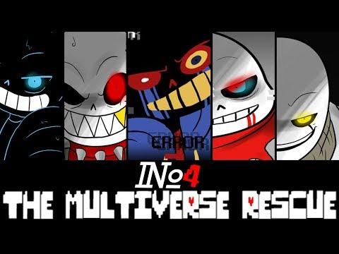 Comics The Multiverse Rescue | Undertale Глава 2 часть 4 (Озвученный Комикс)