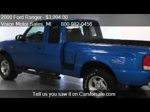 2000 ford ranger xlt 4x4 for sale in kalkaska mi 49646 for Voice motors kalkaska michigan