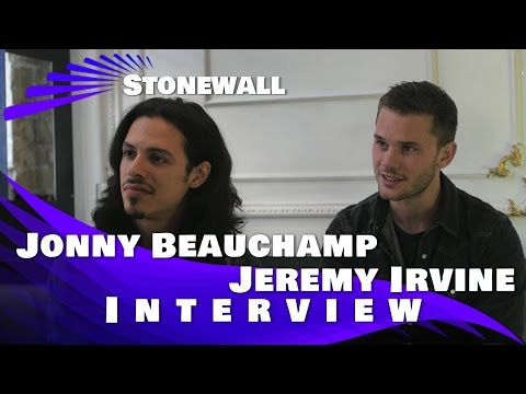 Jeremy Irvine and Jonny Beauchamp Exclusive Interview: Stonewall
