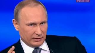 Невыученный урок Очередная ахинея Путина на серьёзный вопрос [14/04/2016]