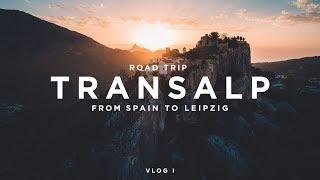 TRAMP CHAMP | TRANSALP VLOG I - ROAD TRIP FROM SPAIN TO LEIPZIG 4K
