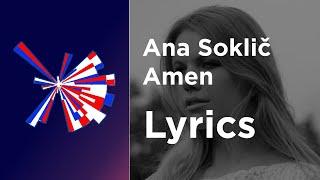 Ana Soklič - Amen (Lyrics) Slovenia Eurovision 2021