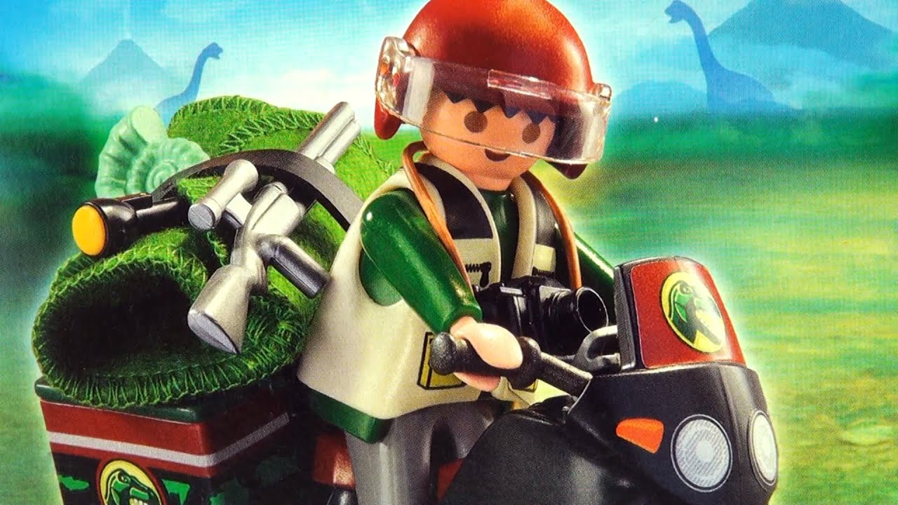 Playmobil dinos Explorer with Motorcycle 5237 - Dinosaur Hunter ...