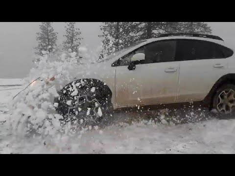 Crosstrek vs snow offroad (Treky gets a face lift)