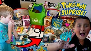 SUPRISING A KID WITH HIS DREAM FACTORY WISH!! TONS OF POKEMON CARDS, TOYS & VACATION WITH ME & ETHAN