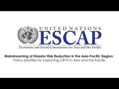 CRVS - Policy priorities for improving CRVS in Asia and the Pacific (Thursday)