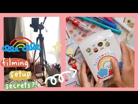 How I Film *Journal With Me* Videos | Rainbowholic 🌈