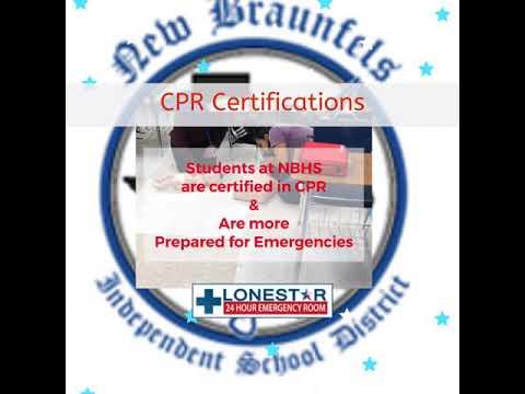 New Braunfels High School Students Learn CPR with Lonestar 24 HR ER