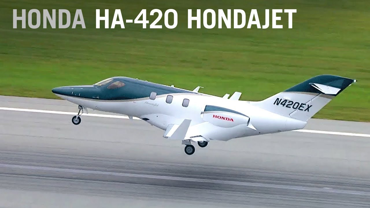 Flying the new hondajet aintv youtube for Honda private jet