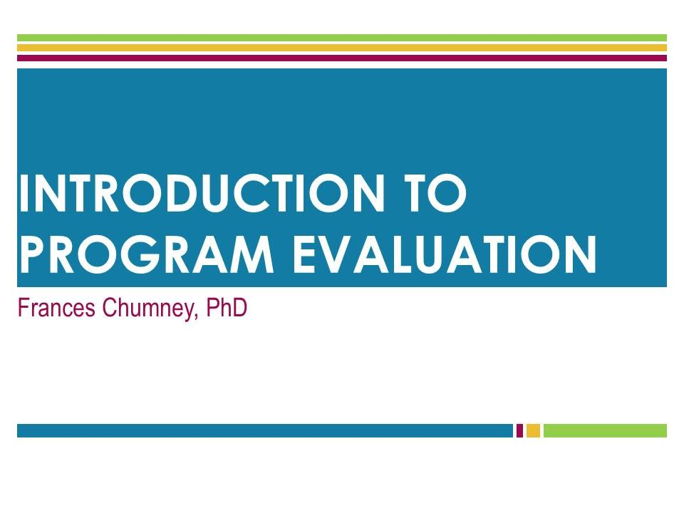 Program Evaluation Introduction  Youtube