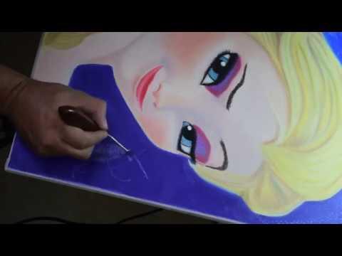 Como Dibujar y Pintar a Elsa de Frozen para principiantes How to