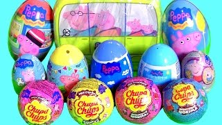 Peppa Pig Toys Surprise Complete Collection Chupa Chups Surprise Eggs Clay Play-Doh Stampers