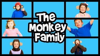 Monkey Family Song | Finger Family Song | Nursery Rhymes | Baby Songs