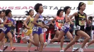 Track and field W'3000m 予選1組 Jr.Olympics陸上2010-1023 福田有以 検索動画 12