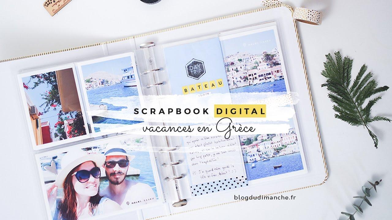 scrapbook digital faire un joli album photo youtube. Black Bedroom Furniture Sets. Home Design Ideas