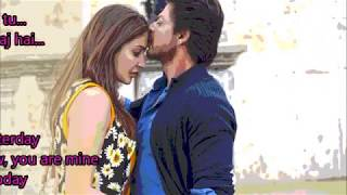 Gambar cover Hawayein Lyrics with English Translation | Jab Harry met Sejal (2017) | Arijit Singh