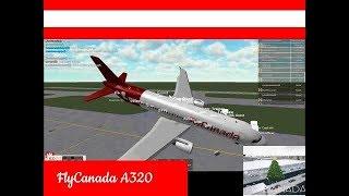 Roblox Flug -:- FlyCanada A320 -:- Der CEO ist ein Vogel?