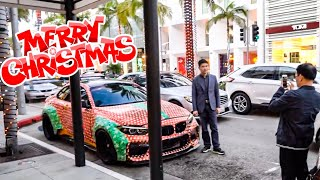 PRANK CHRISTMAS WRAPPING CARS ON RODEO DRIVE! *ALEX CHOI VLOG*