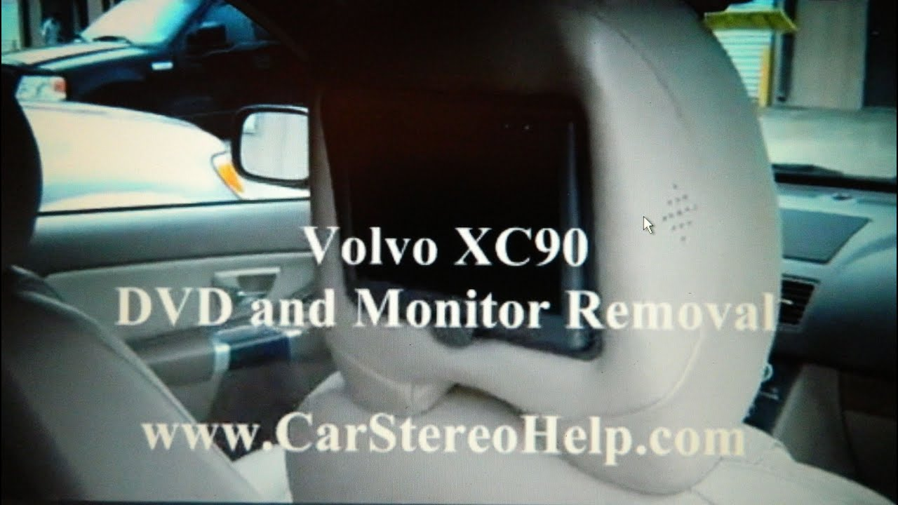 How to Volvo XC90 Head Rest DVD and Monitor Removal replace repair ...