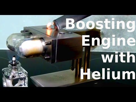 The incredible effects of Helium in Stirling Engines