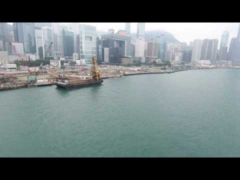 Hong Kong and Kowloon.  Drone FPV