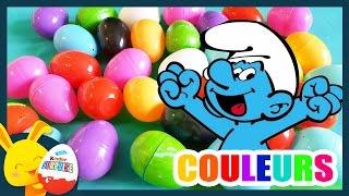 Compétition des couleurs Schtroumpf - Oeufs surprises - Couleurs - Titounis - Touni Toys