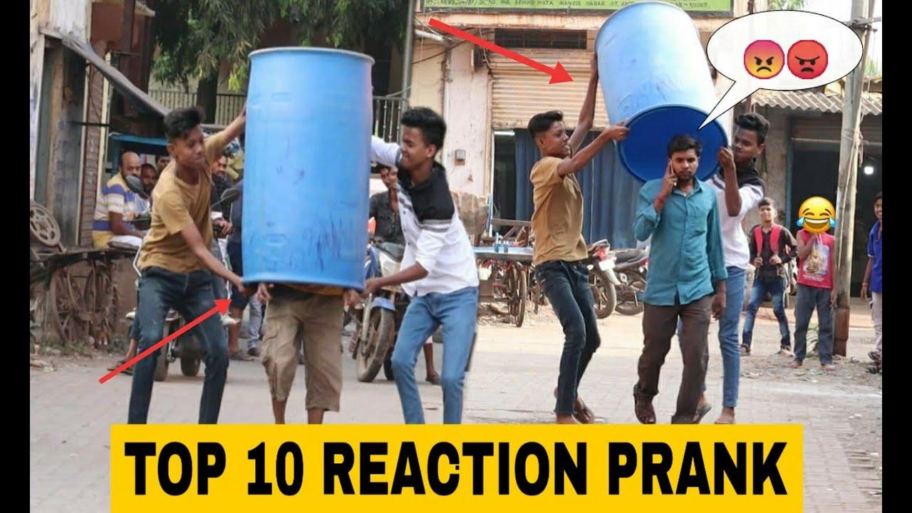 TOP 10 REACTION PRANK VIDEOS    PRANK IN INDIA    OYE FUNTOOS