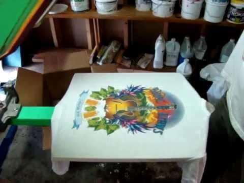 4 Color CMYK Screen Printing Process