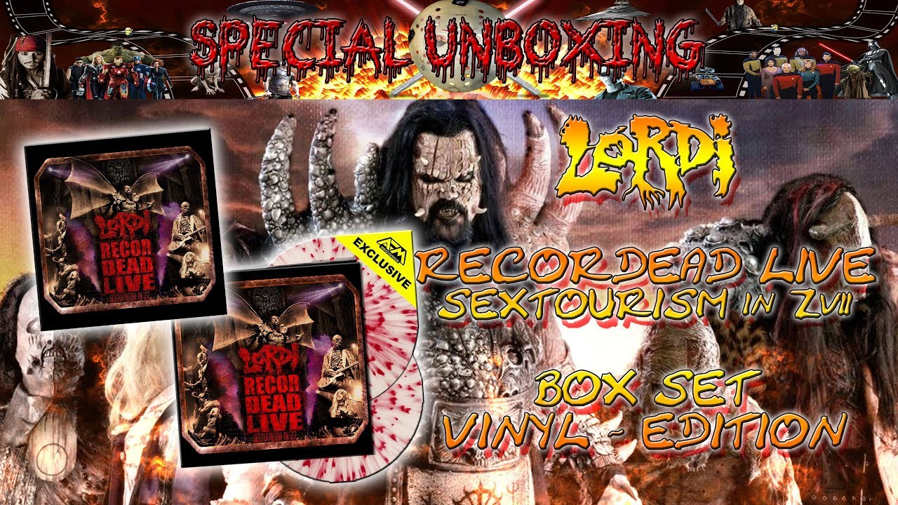 Download Unboxing - LORDI - RECORDEAD LIVE - SEXTOURICM in Z7 - Blu Ray Box Set + Vinyl