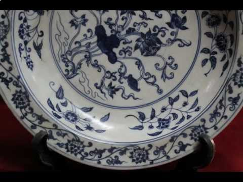 #5 Ming dynasty Chenghua Mark antique chinese porcelain plate.avi