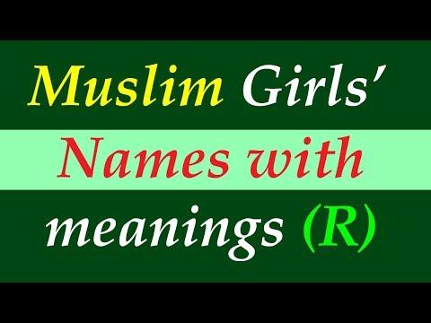 Muslim girls names starting with R with meaning Islamic names of Arabic Persian Turkish Urdu origin