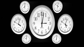 Wall Clocks TimeLapse 3d Ripple Effect Multiple Clock Faces Spinning Hands in HD Time lapse Videos