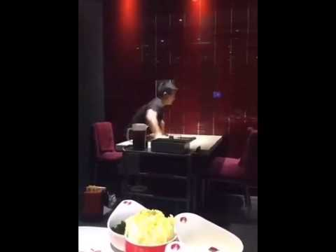 Like a boss Busboy working at a Chinese restaurant - YouTube - restaurant busboy