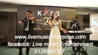 3 piece Corporate Live Band with Violinist from Live music enterprise