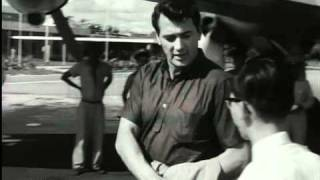 Rock Hudson arriving at Paramaribo