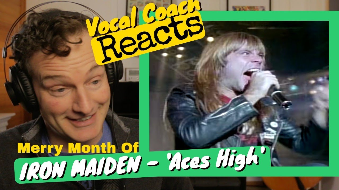 Download Vocal Coach REACTS - IRON MAIDEN 'Aces High'