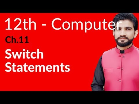 ICs Computer Part 2, Ch 11 - Switch Statement - 2nd Year Computer - 동영상